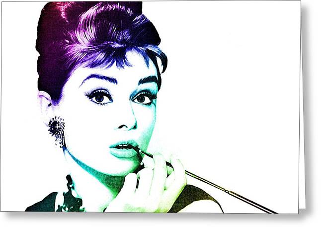 Audrey Hepburn Greeting Card by Marianna Mills