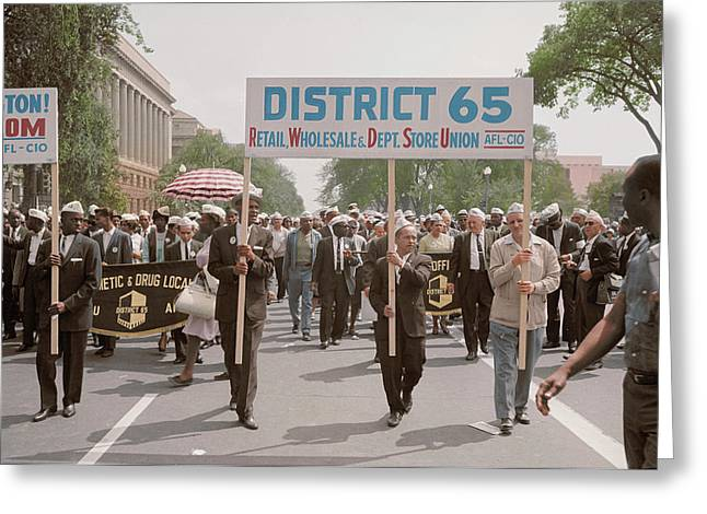 August 28, 1963 - Marchers Carrying Greeting Card