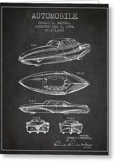 Automobile Patent From 1954 Greeting Card by Aged Pixel