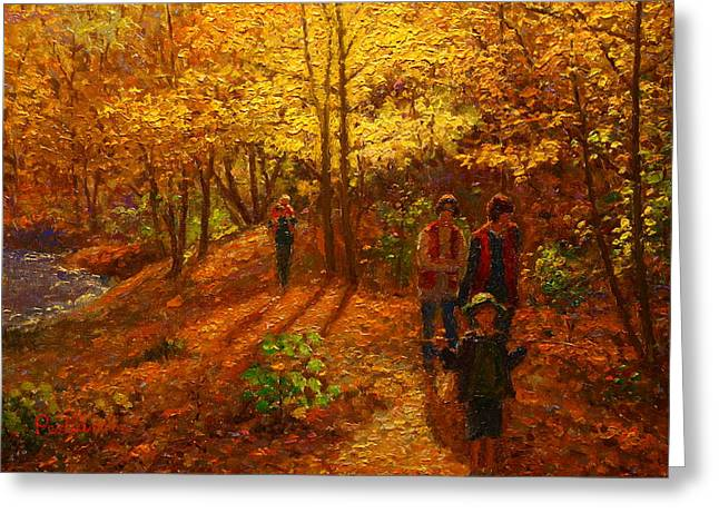 Autumn Bush Creek Track  Greeting Card by Terry Perham