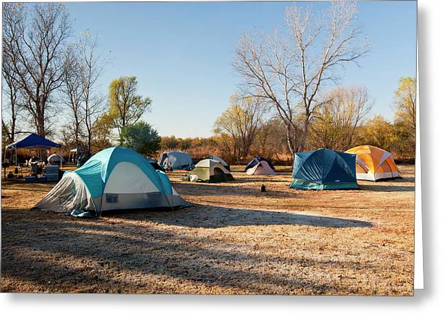 Autumn Camping At Copper Breaks State Greeting Card