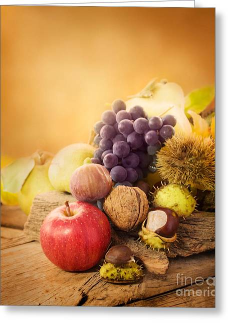 Autumn Fruit Greeting Card