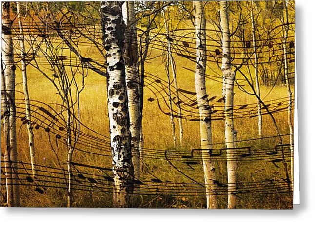 Autumn Sonata Greeting Card by Theresa Tahara