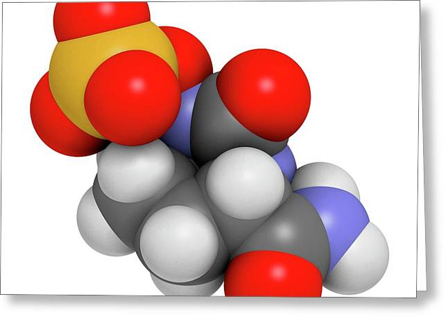 Avibactam Drug Molecule Greeting Card