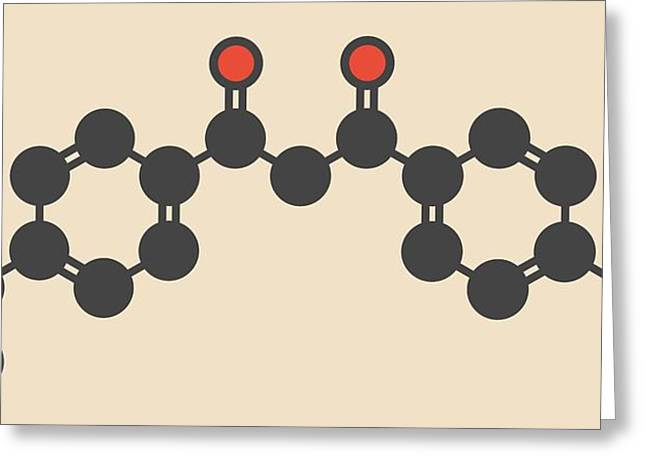 Avobenzone Sunscreen Molecule Greeting Card by Molekuul