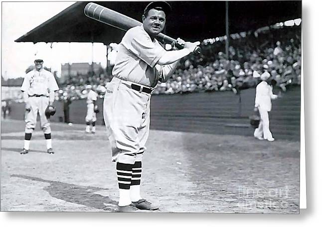 Babe Ruth Greeting Card by Marvin Blaine