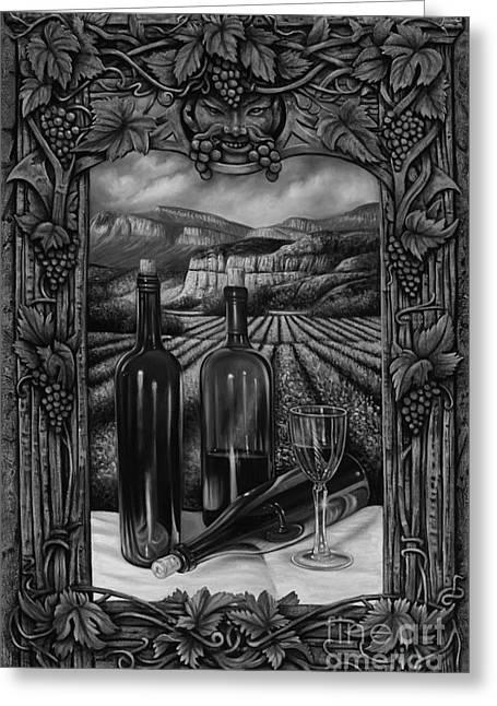 Bacchus Vineyard Greeting Card