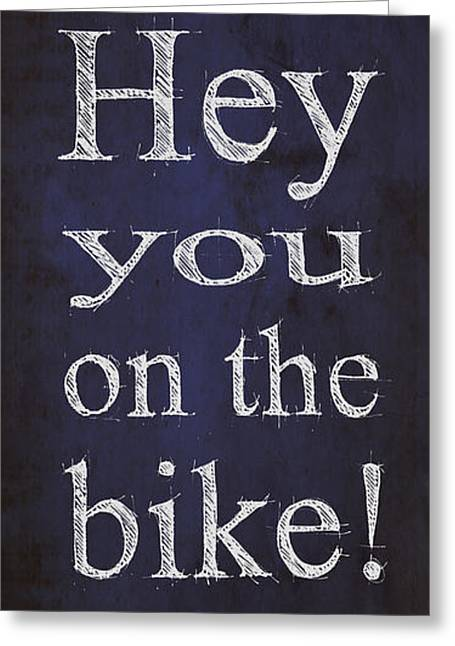 Back To The Future.hey Dad George Hey You On The Bike Greeting Card