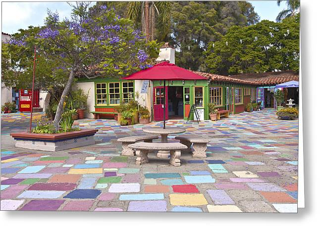 Balboa Park Spanish Village San Diego California. Greeting Card by Gino Rigucci