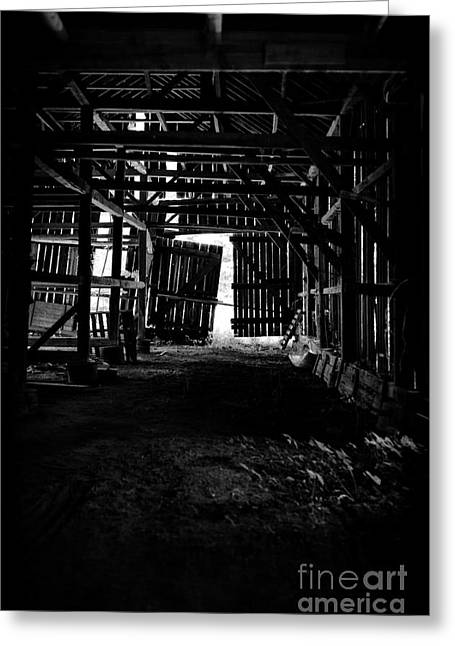 Tobacco Barn Interior Greeting Card by HD Connelly