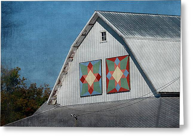 2 Barn Quilts Greeting Card