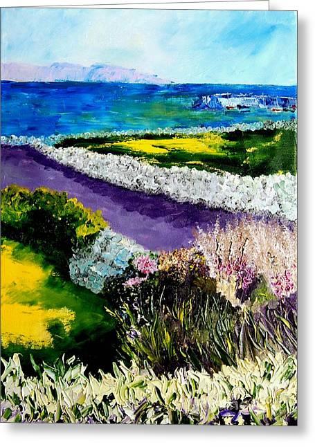 Barna Galway Bay Ireland Greeting Card by Lynda Cookson