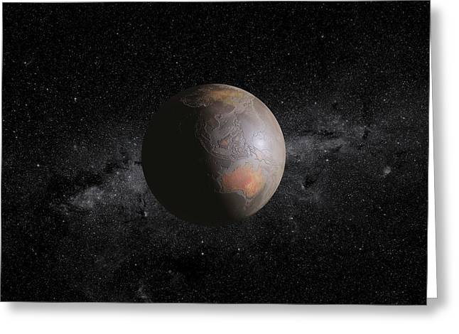 Barren Earth Greeting Card by Peter Matulavich