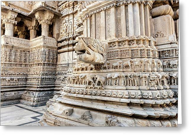 Bas Relief Jagdish Temple Udaipur Greeting Card