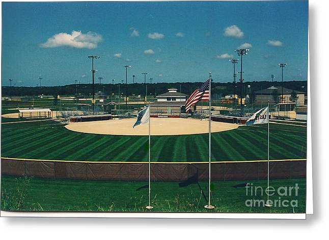 Baseball Diamond Greeting Card
