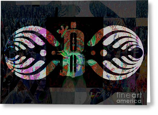 Bassnectar Symbol Remixed Greeting Card by Andrew Kaupe