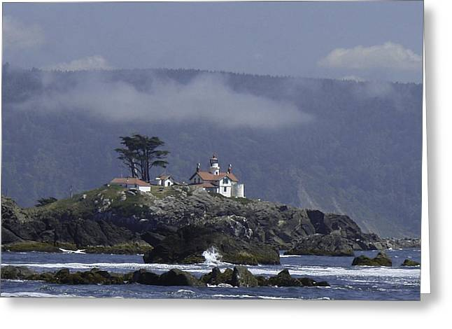 Greeting Card featuring the photograph Battery Point Lighthouse by Betty Depee