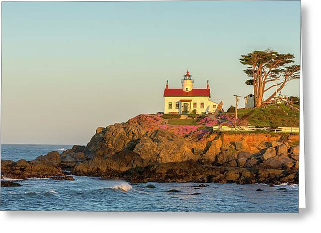 Battery Point Lighthouse In Crescent Greeting Card by Chuck Haney