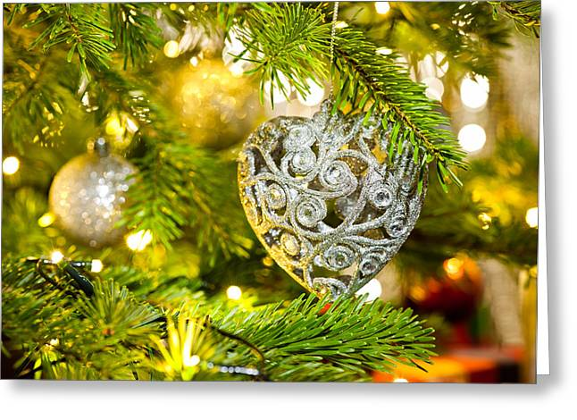 Bauble In A Christmas Tree  Greeting Card by Ulrich Schade