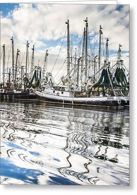 Bayou Labatre' Al Shrimp Boat Reflections Greeting Card