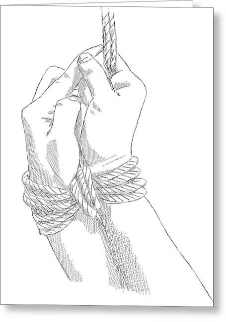 Bdsm Sm Bondage Drawing Greeting Card