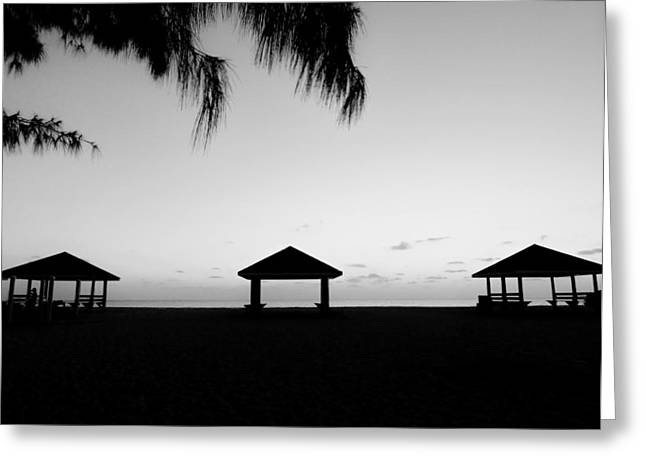 Greeting Card featuring the photograph Beach Huts by Amar Sheow