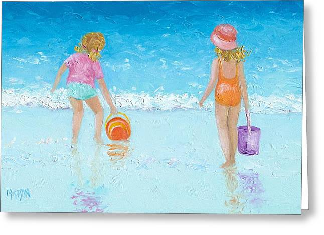 At The Seaside Greeting Card by Jan Matson
