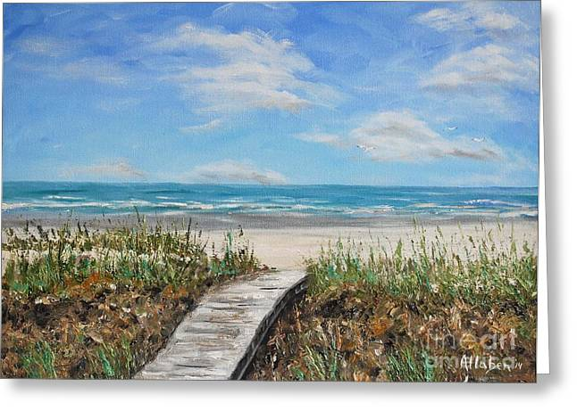 Beach Walkway Greeting Card