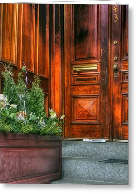 Beacon Hill Doorways Greeting Card