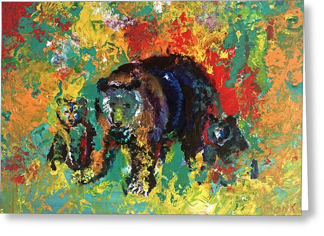 Bear Family Greeting Card by Peter Bonk