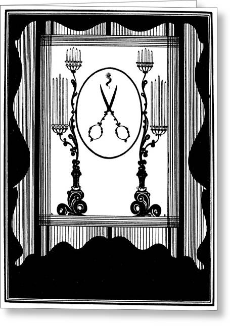 Beardsley Rape Of Lock Greeting Card by Granger