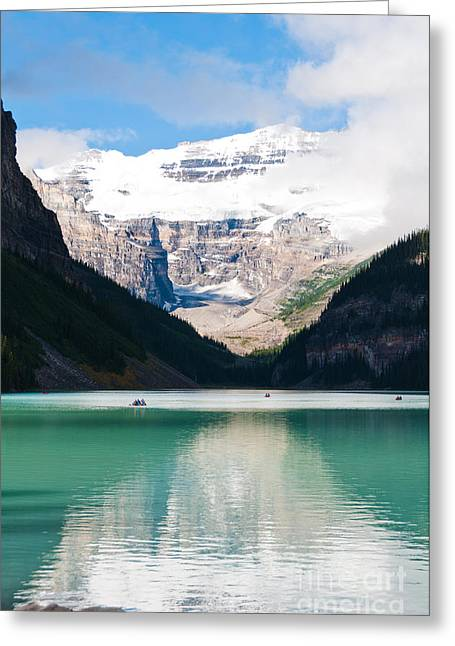Greeting Card featuring the photograph Beautiful Lake Louise by Cheryl Baxter
