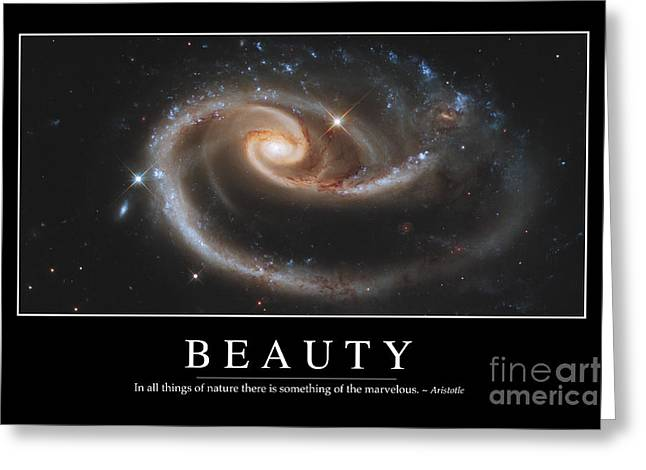Beauty Inspirational Quote Greeting Card by Stocktrek Images