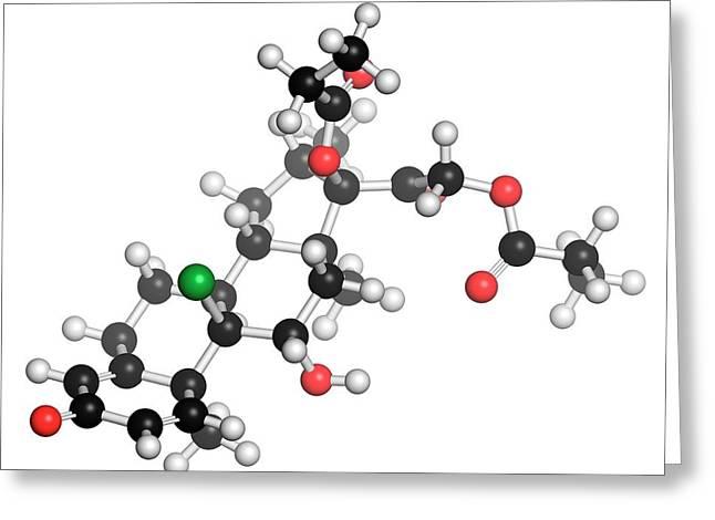 Beclometasone Dipropionate Steroid Drug Greeting Card