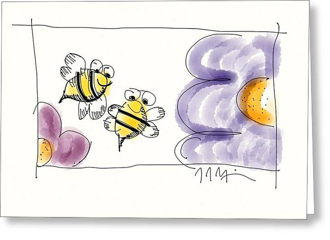 2 Bee Or Not To Bee Greeting Card