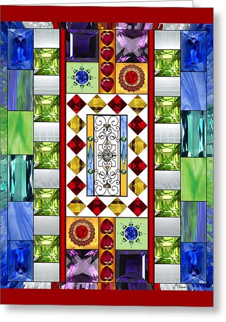 Bejeweled 1 Greeting Card by Ellen Henneke