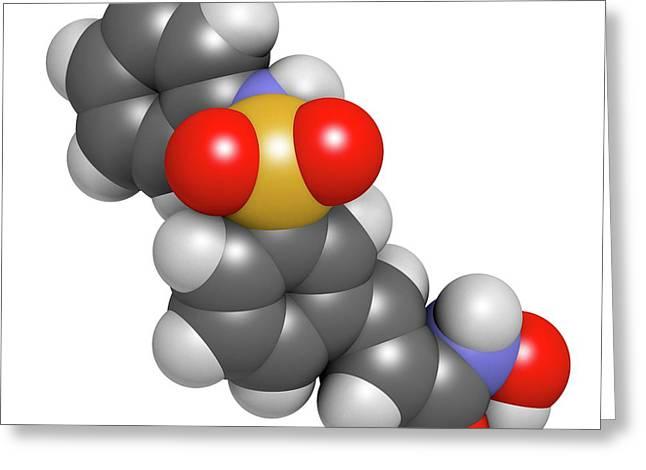 Belinostat Cancer Drug Molecule Greeting Card