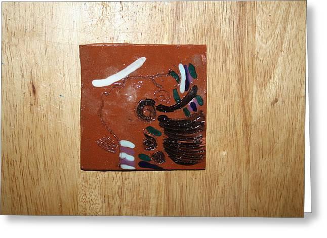 Bella - Tile Greeting Card by Gloria Ssali