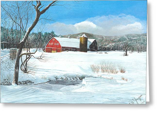 below freezing in New England Greeting Card