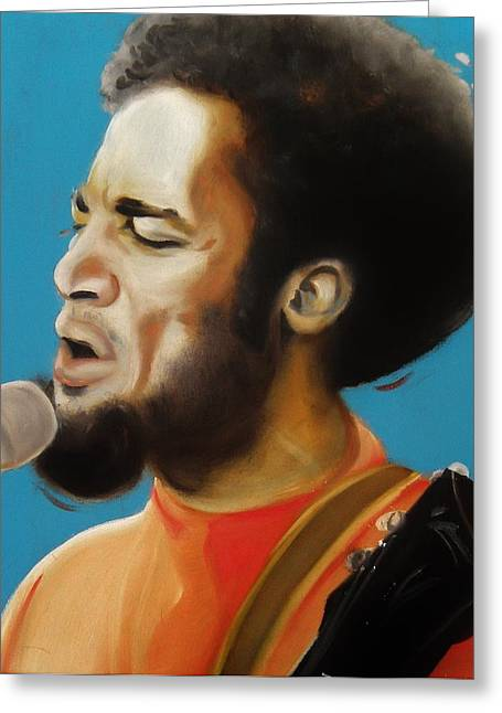 Ben Harper Greeting Card by Matt Burke