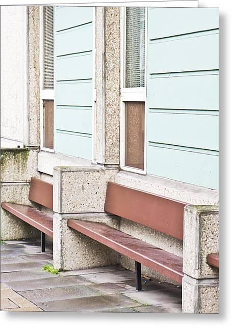Benches Greeting Card by Tom Gowanlock