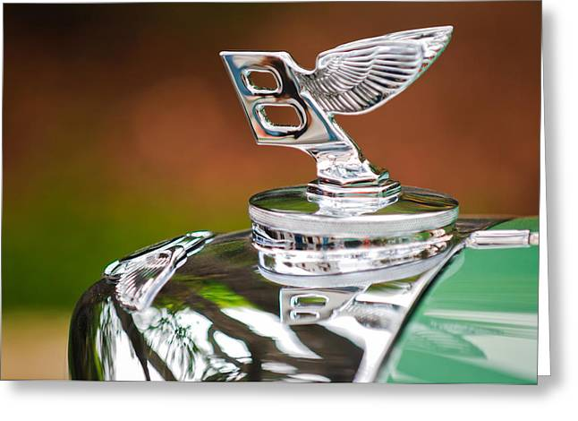 Bentley Hood Ornament Greeting Card by Jill Reger
