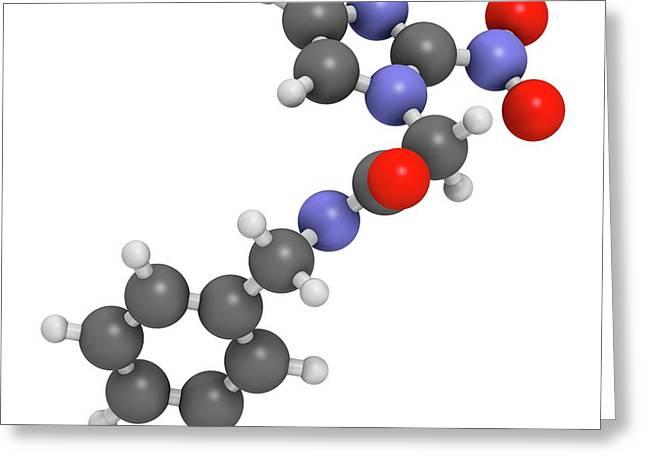 Benznidazole Antiparasitic Drug Molecule Greeting Card by Molekuul