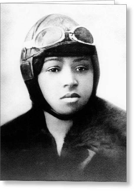 Bessie Coleman, American Aviator Greeting Card by Science Source
