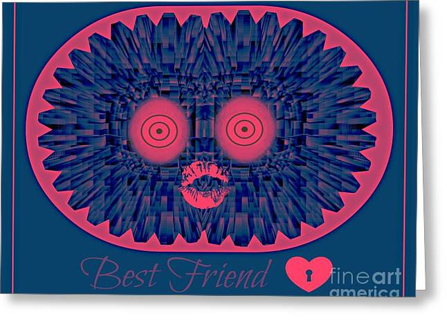 Best Friend Greeting Card by Meiers Daniel