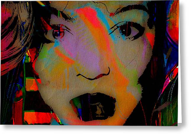 Beyonce Collection Greeting Card by Marvin Blaine