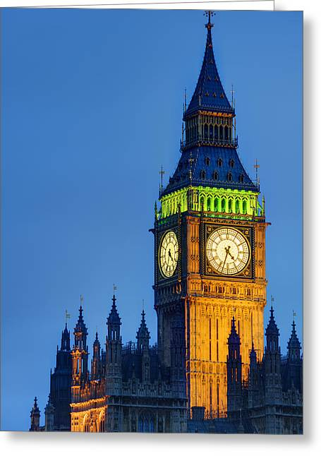 Big Ben London Greeting Card by Matthew Gibson