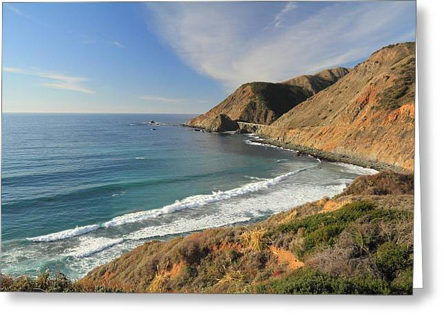Greeting Card featuring the photograph Big Sur Bridge by Scott Rackers