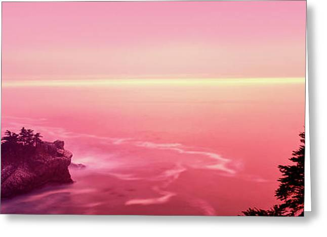 Big Sur Coast At Sunset, California, Usa Greeting Card by Panoramic Images