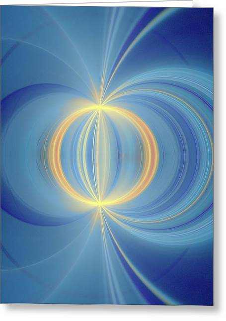 Bipolar Conceptual Illustration Greeting Card by David Parker